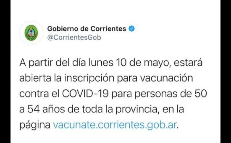 Desde el lunes 10 habilitarán la inscripción  para vacunarse