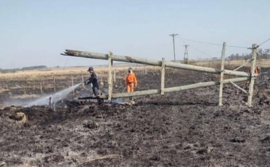 La infraestructura eléctrica del Interior en riesgo por la quema de pastizales